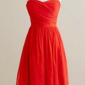 J. Crew Silk Chiffon Dress size 2, good condition